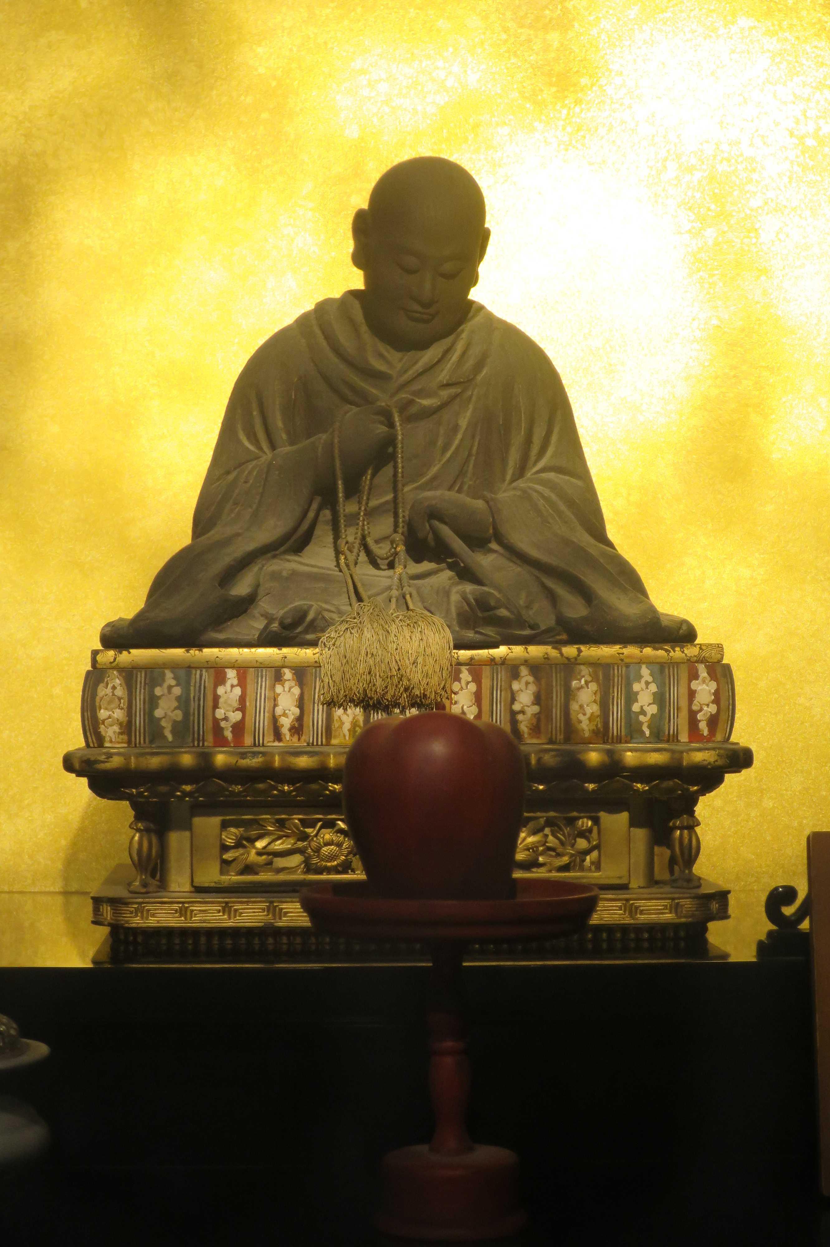 京都・六角堂 - 親鸞上人 夢想之像