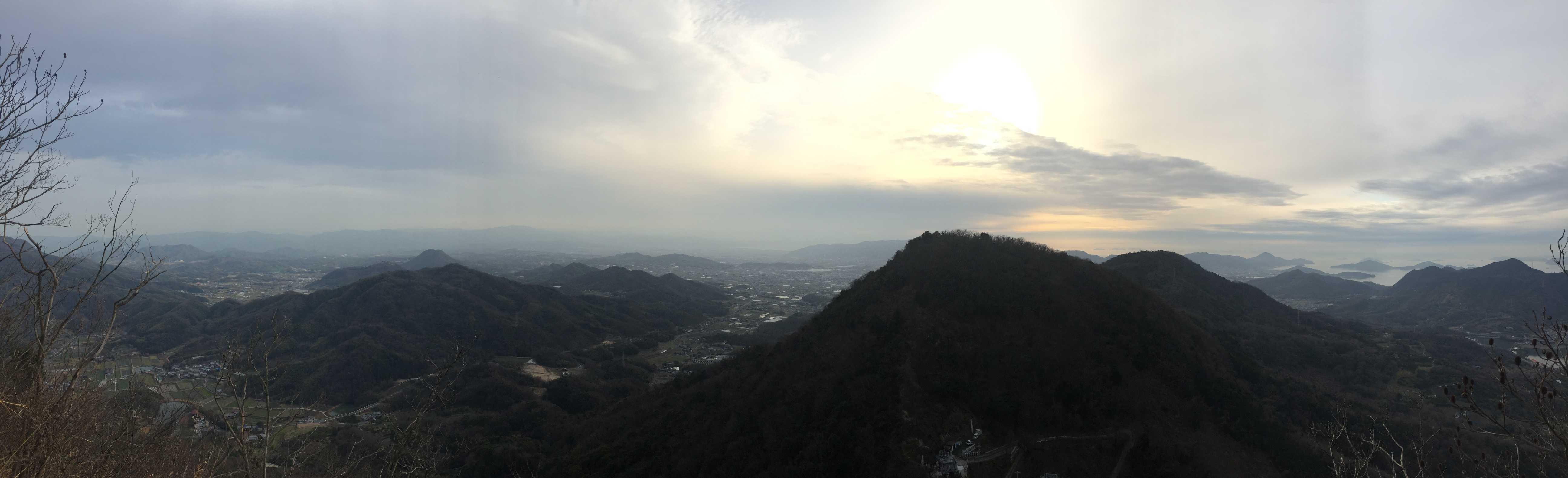 絶景「捨身ヶ嶽禅定」のパノラマ写真