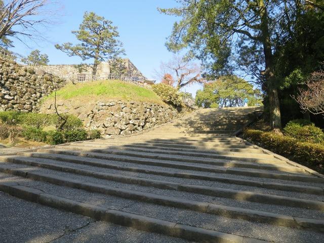 高知城の石段