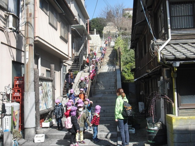 鞆城跡(鞆の浦歴史民俗資料館)への階段