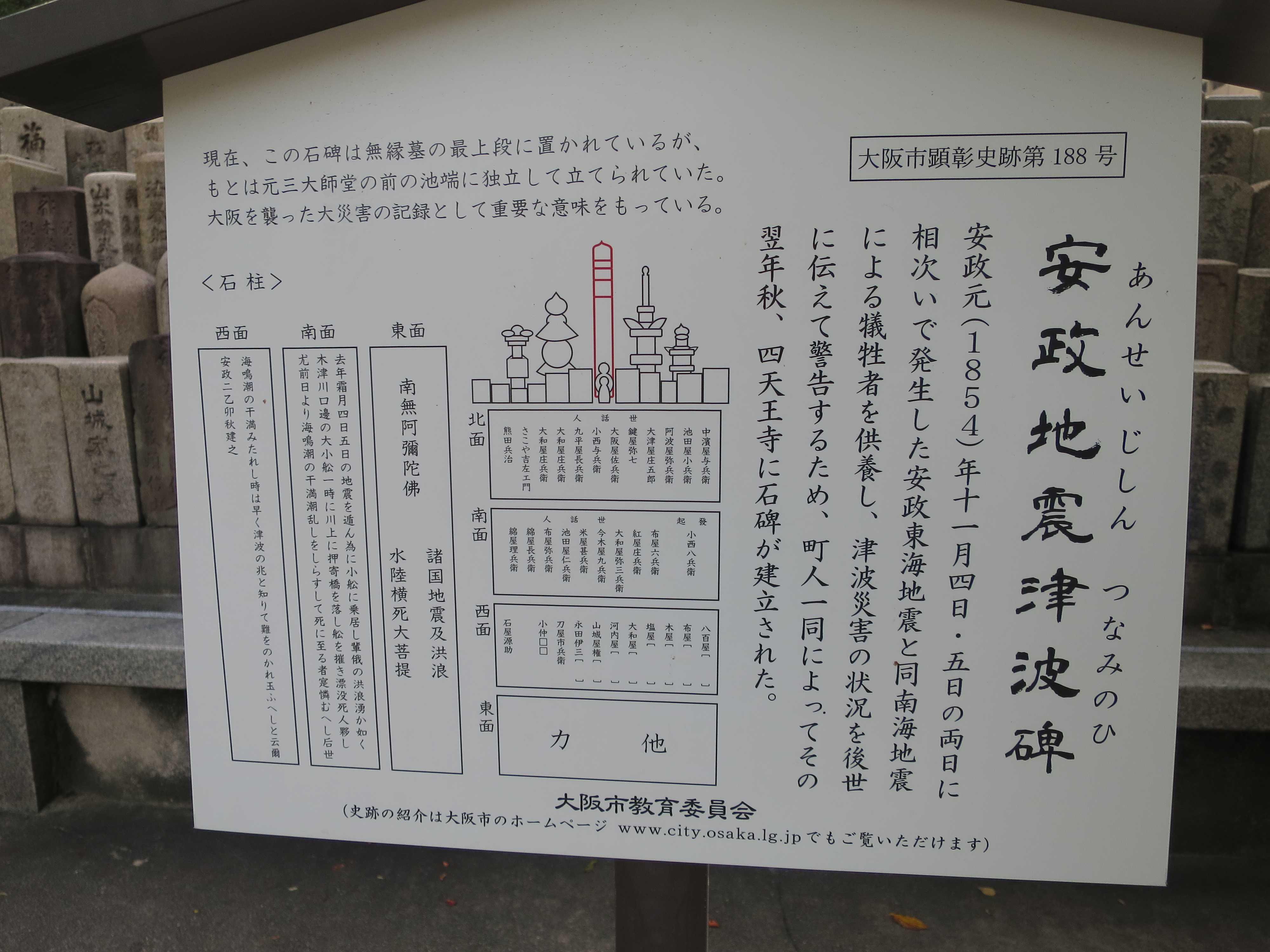 安政地震津波碑