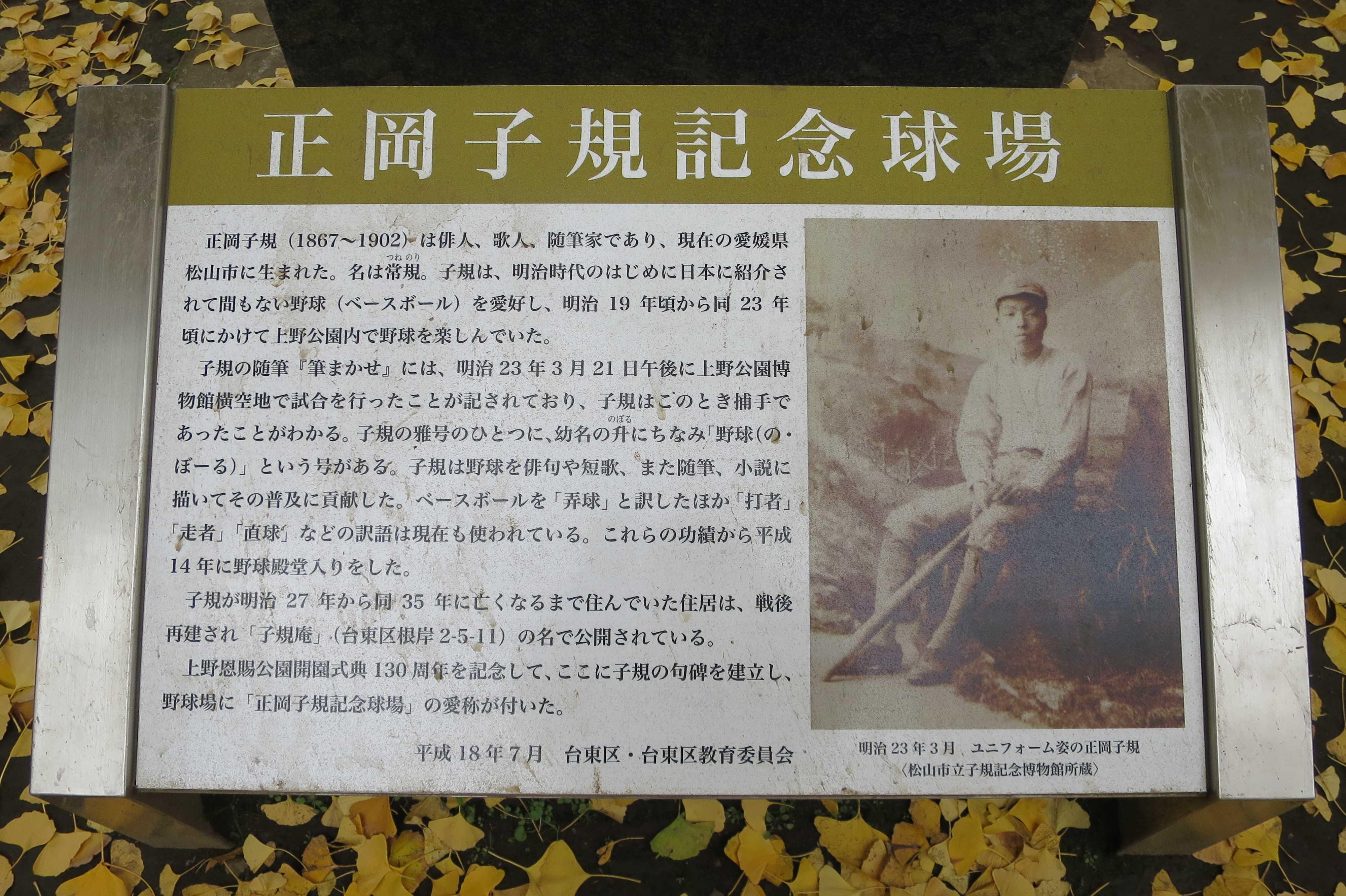 正岡子規記念球場 - 上野公園