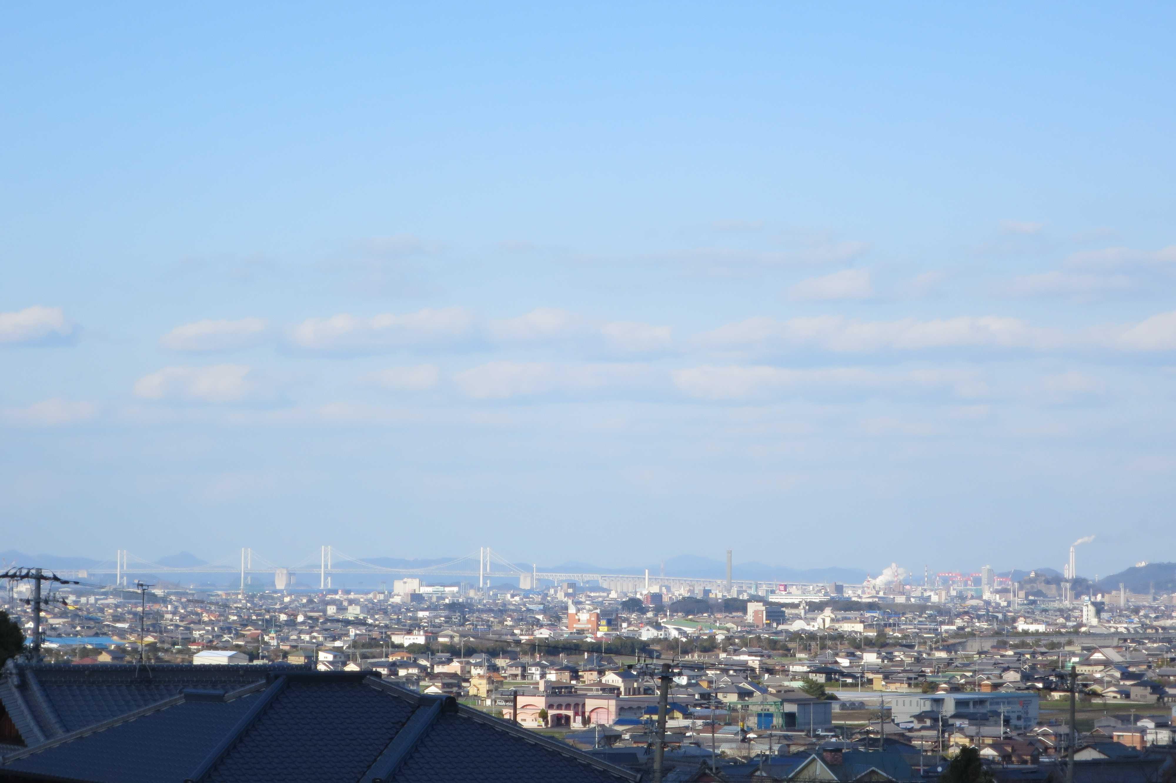 出釈迦寺から見えた瀬戸大橋