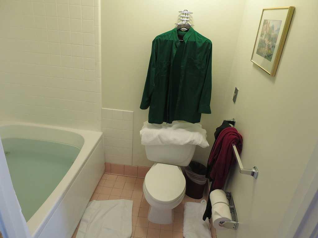 サンノゼ: アレーナホテルのバス(お風呂)とトイレ