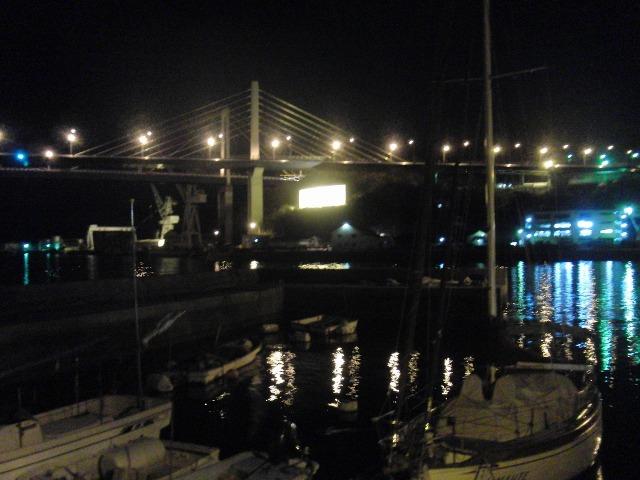 夜の尾道大橋と新尾道大橋