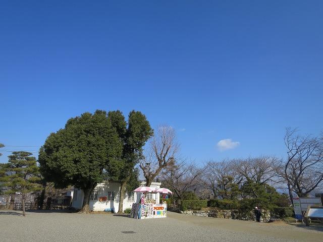 高知城の青空とアイスクリン屋さん
