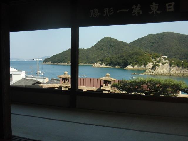 福禅寺・対潮楼の室内からの景色