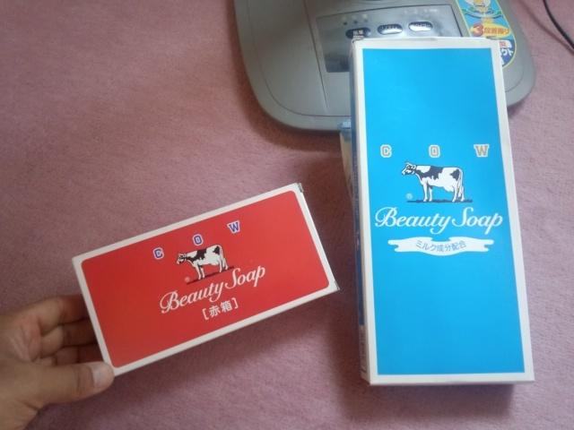 牛乳石鹸赤箱と牛乳石鹸青箱