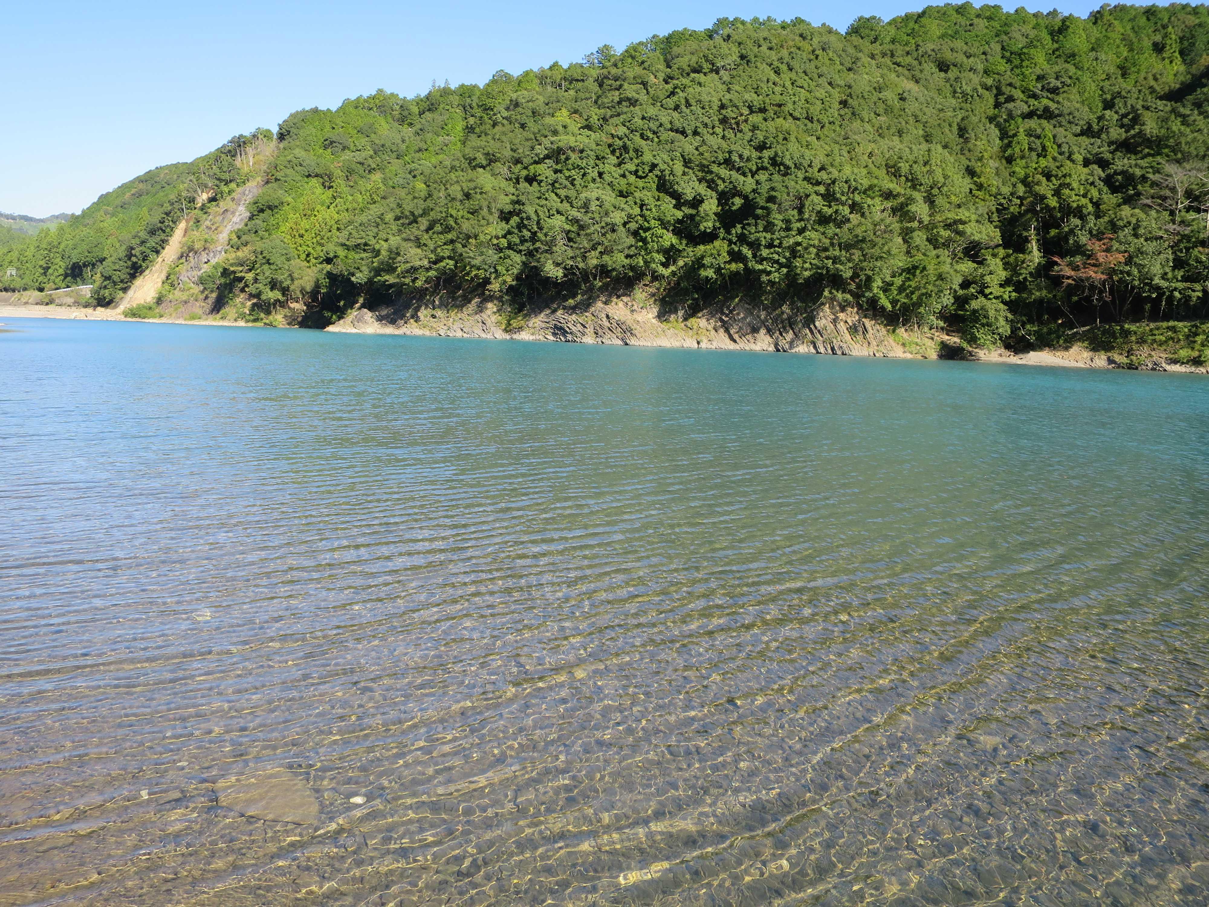 熊野川の透明度