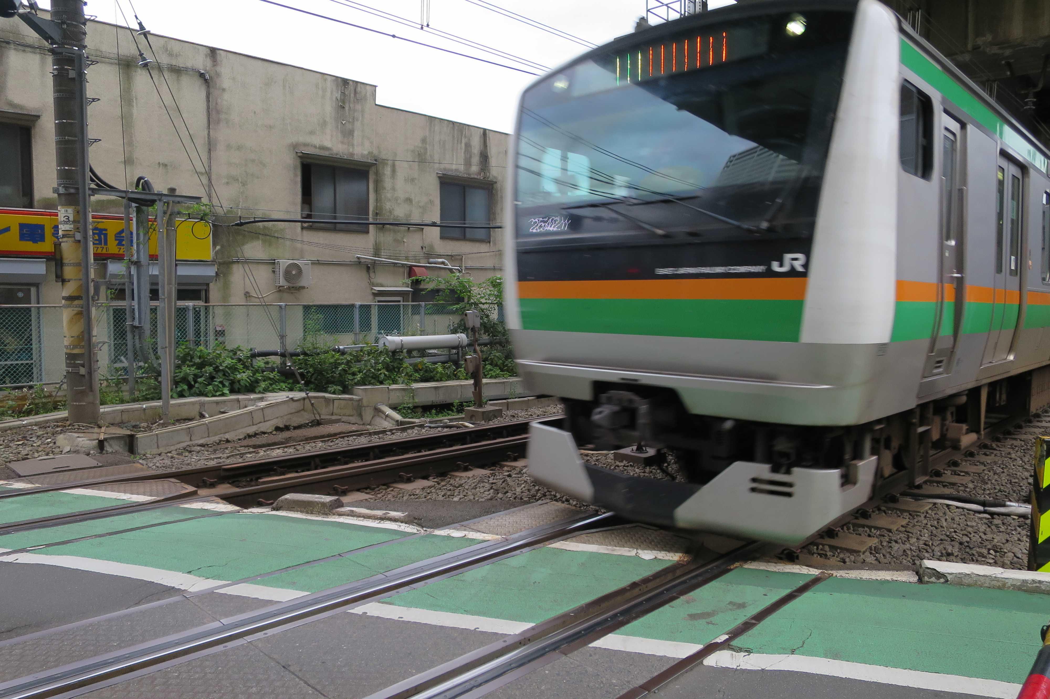 西大井駅に入る湘南新宿ライン