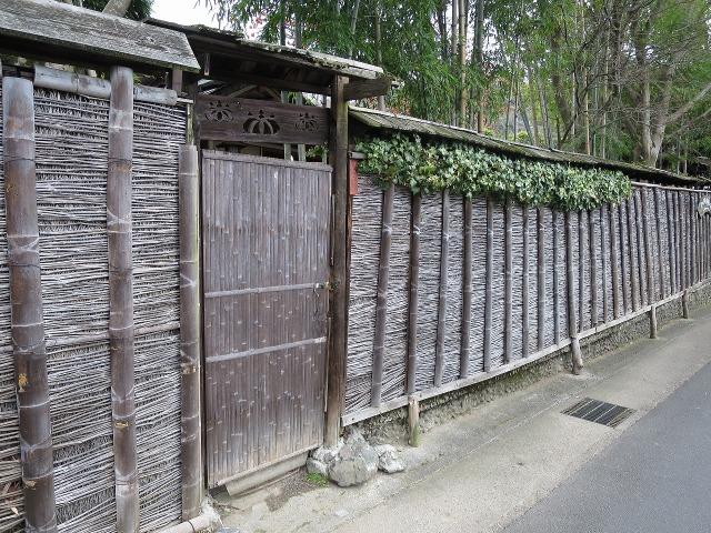 京都らしい竹垣