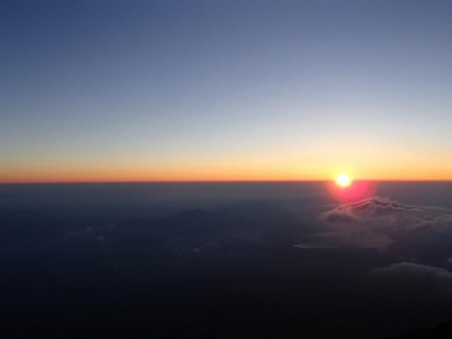 富士山のご来光(2015年7月)