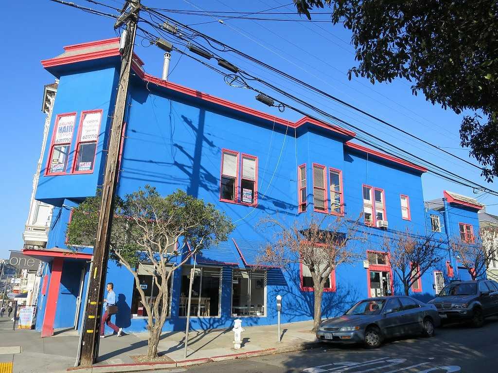 サンフランシスコ - ブルーな壁のカストロの建物