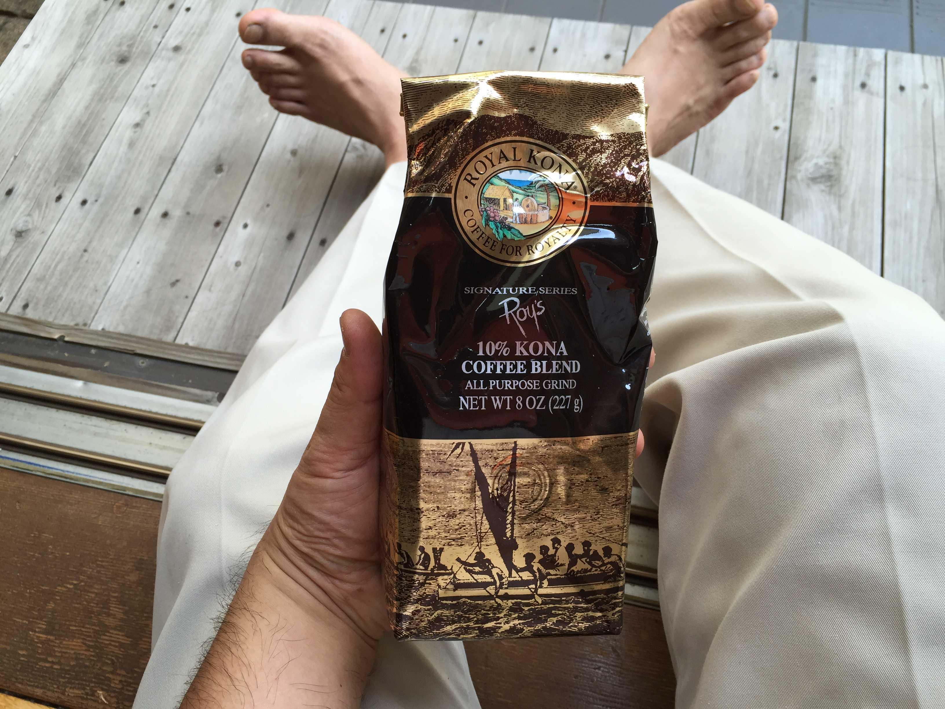 ロイヤルコナコーヒーの表面