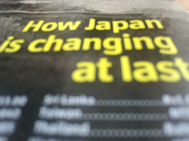 How Japan is changing at last.