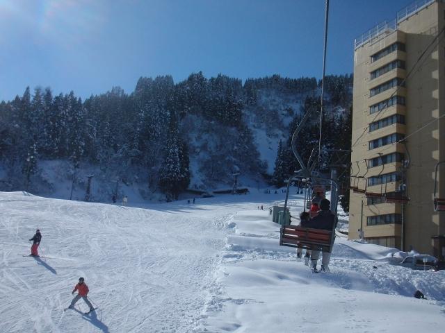 一本杉スキー場のリフト