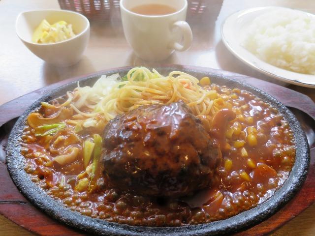 箱根湯本のハンバーグ定食