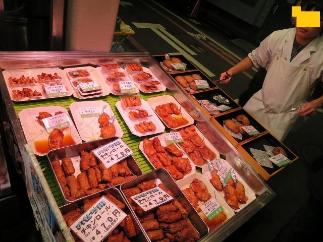 錦市場のチキンロール