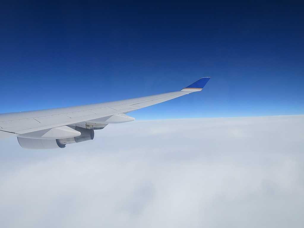 飛行機から撮影した写真