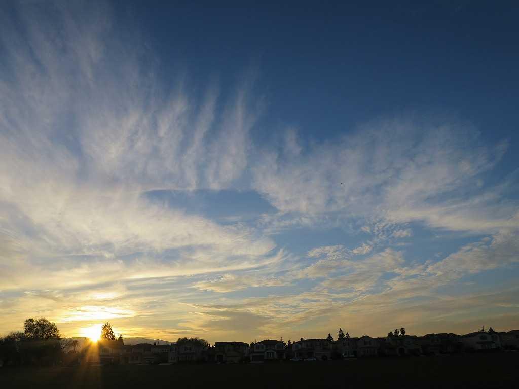 ローレンス・エクスプレスウェイから見た夕日