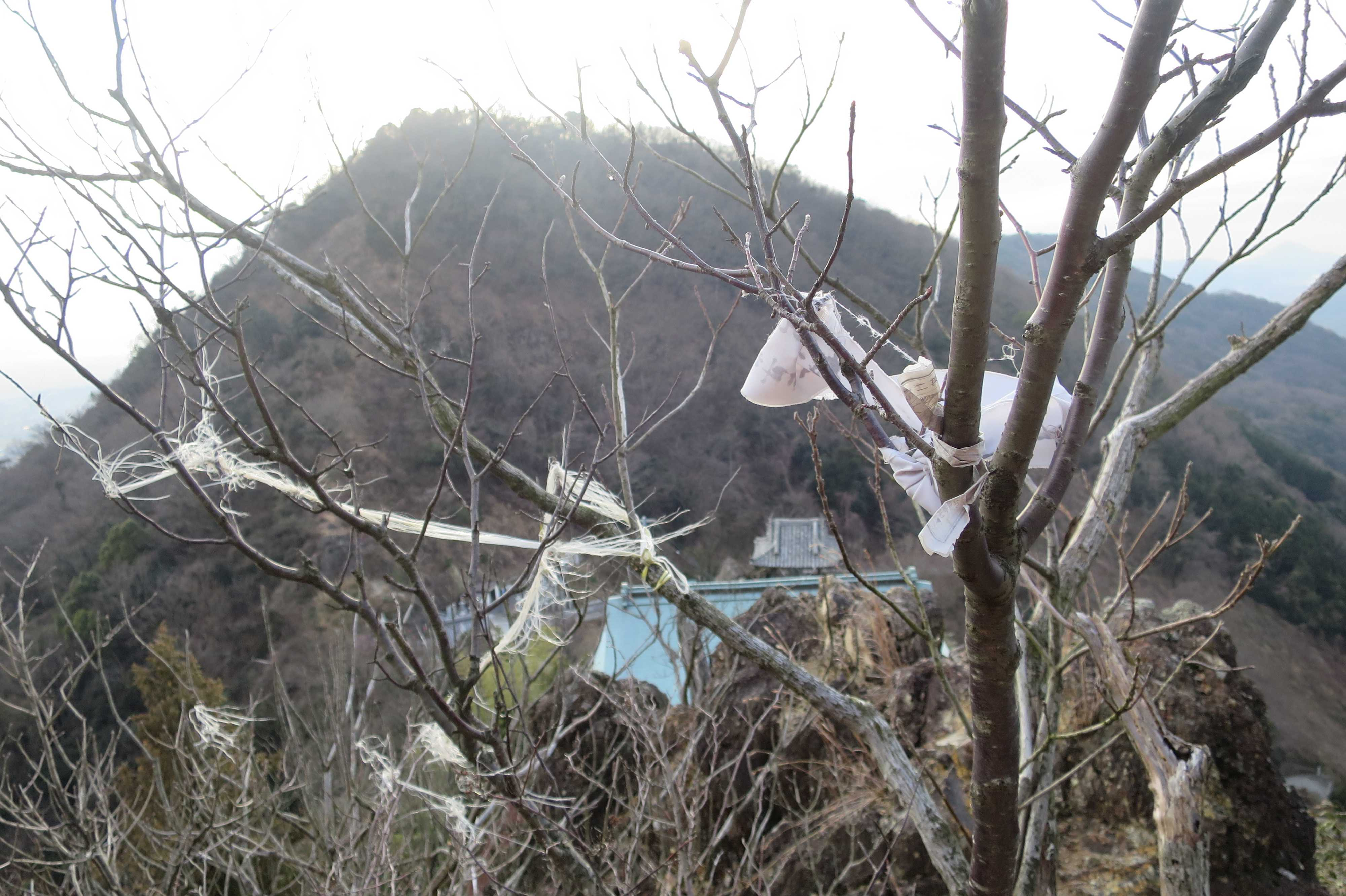 根本御堂の屋根 - 奥の院捨身ヶ嶽禅定