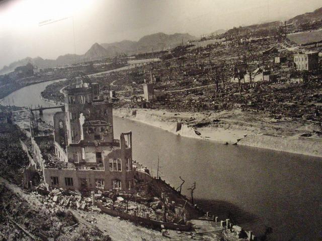 原爆投下直後の広島市