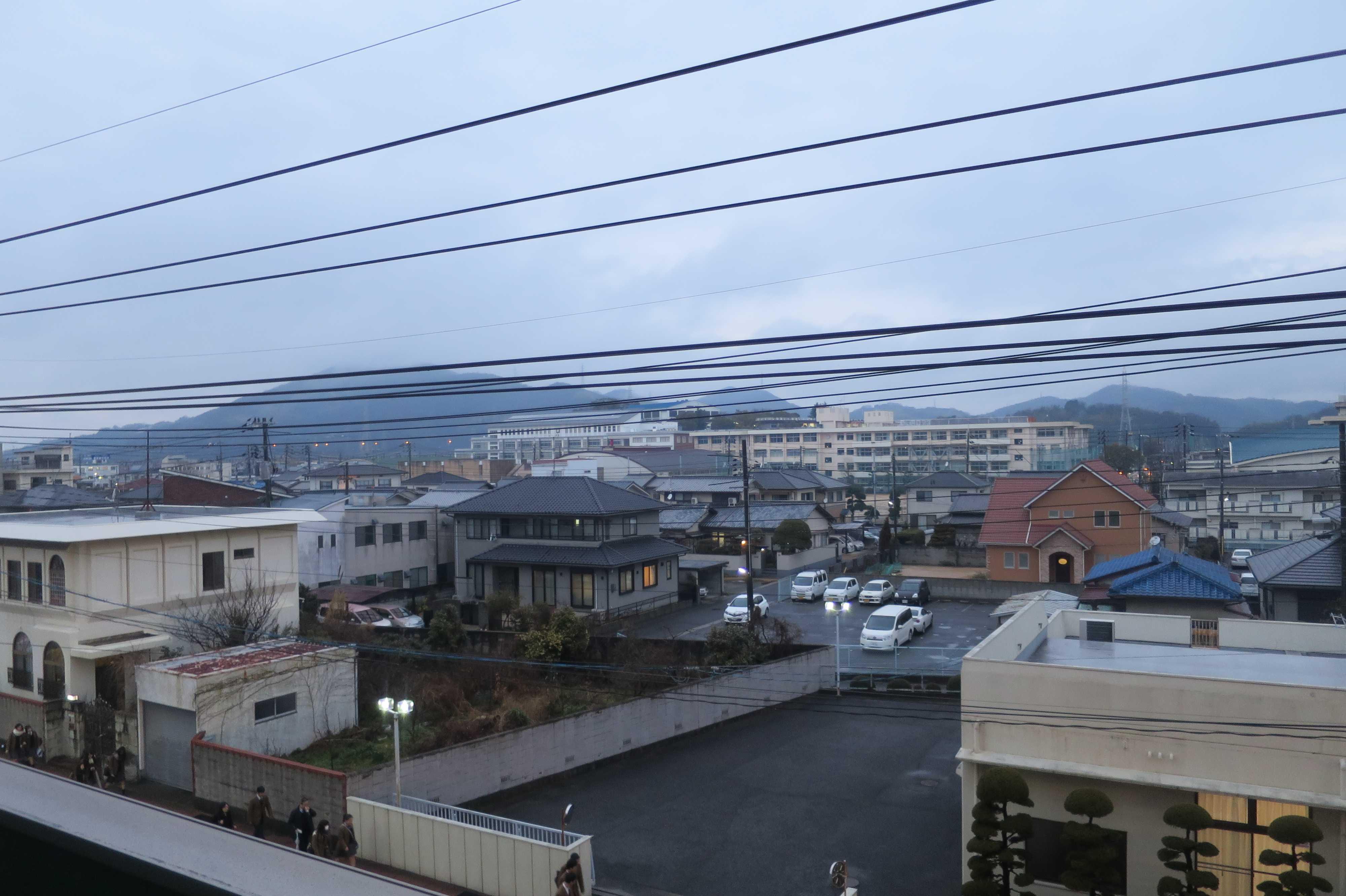 西大寺の風景 - 宿泊ホテルの窓からの眺め