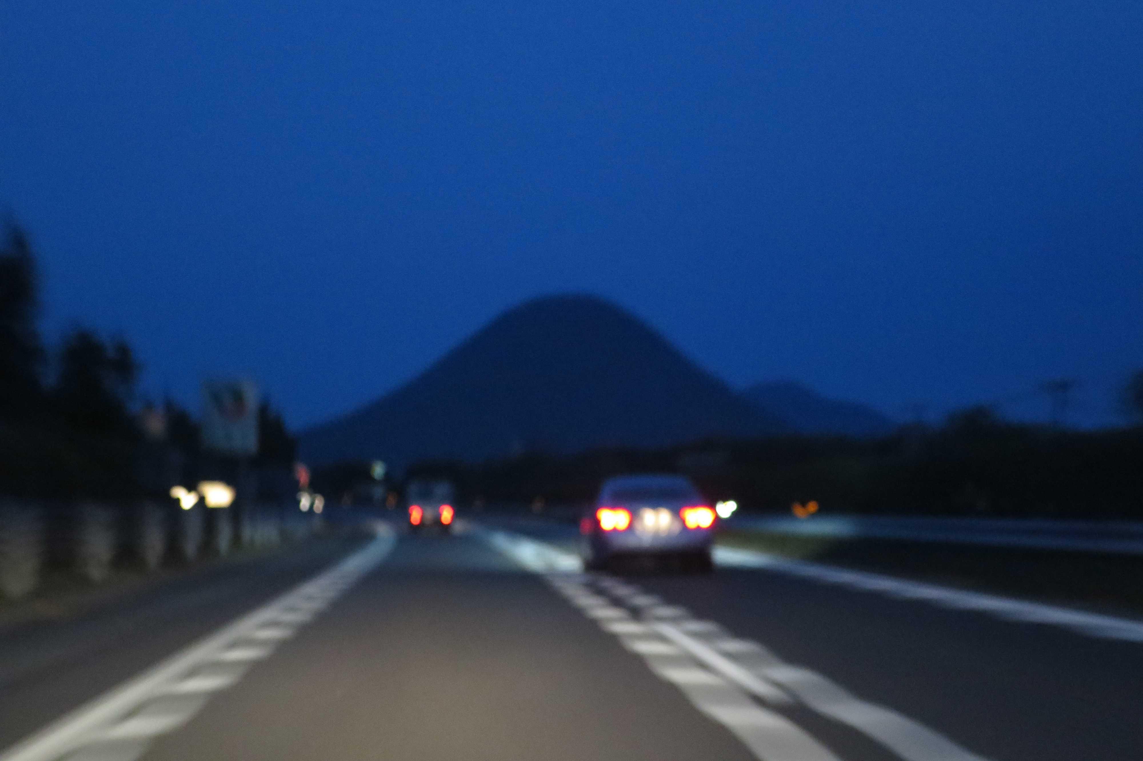 連れが撮影した黄昏時の讃岐富士