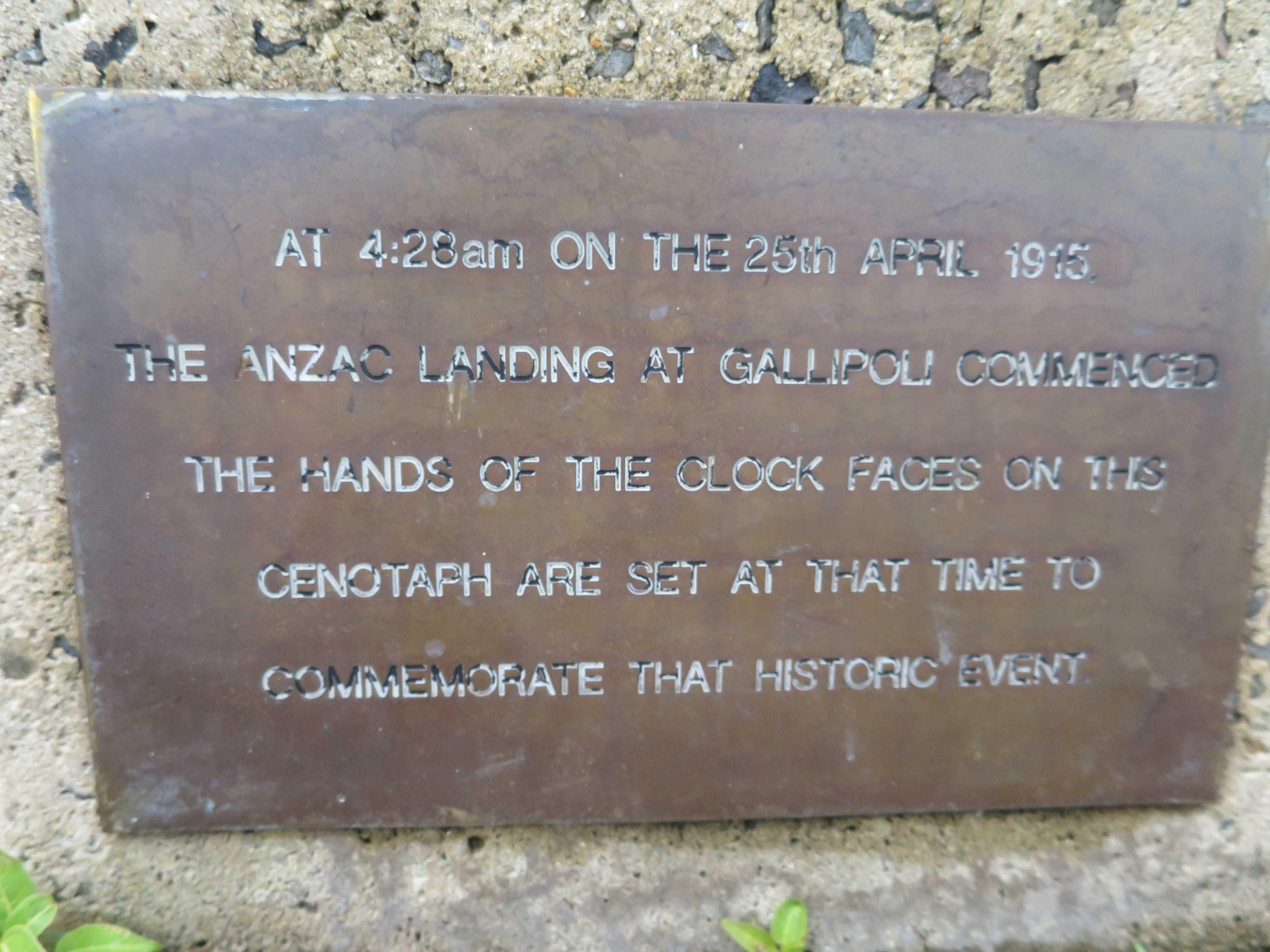 ケアンズの海岸 - 第一次世界大戦の記念塔