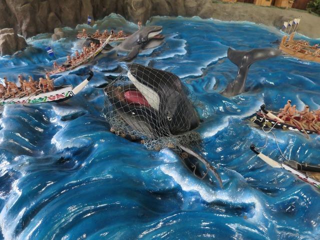 高知城のジオラマ - 捕鯨