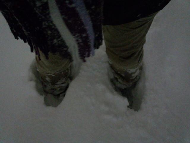 大雪と長靴