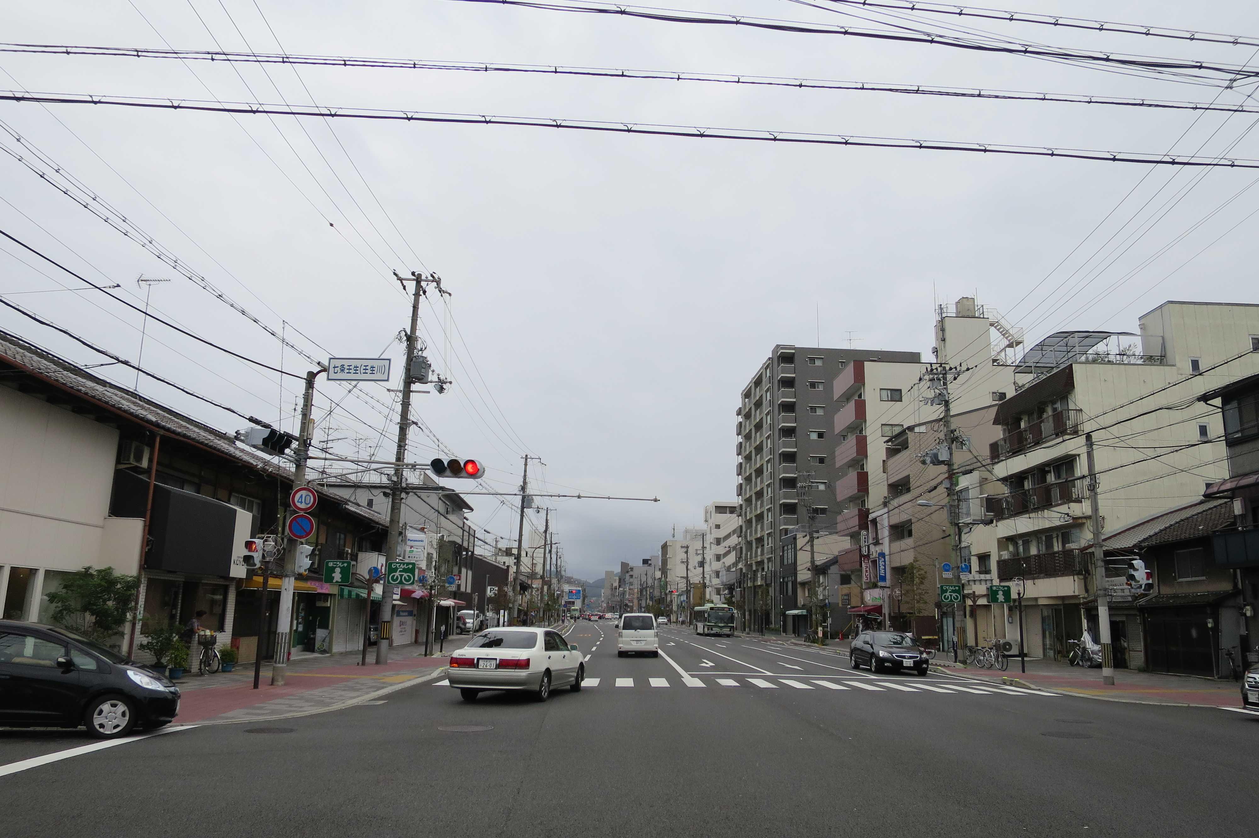 京都 - 七条壬生(壬生川)交差点