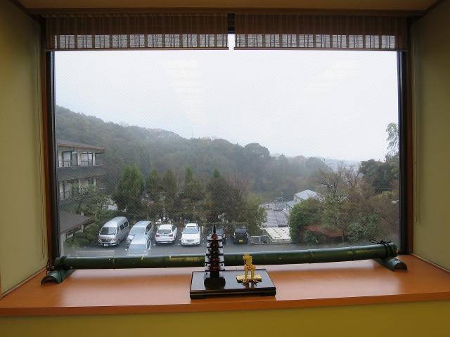 ホテルりょうぜんの朝食会場からの景色