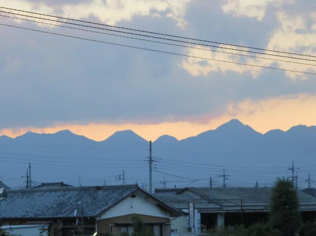 夕暮れの榛名山