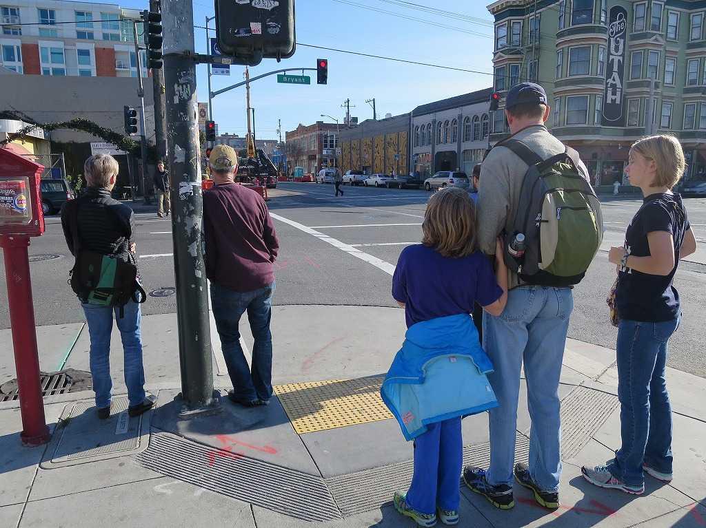 4thストリートとブライアント・ストリートの交差点