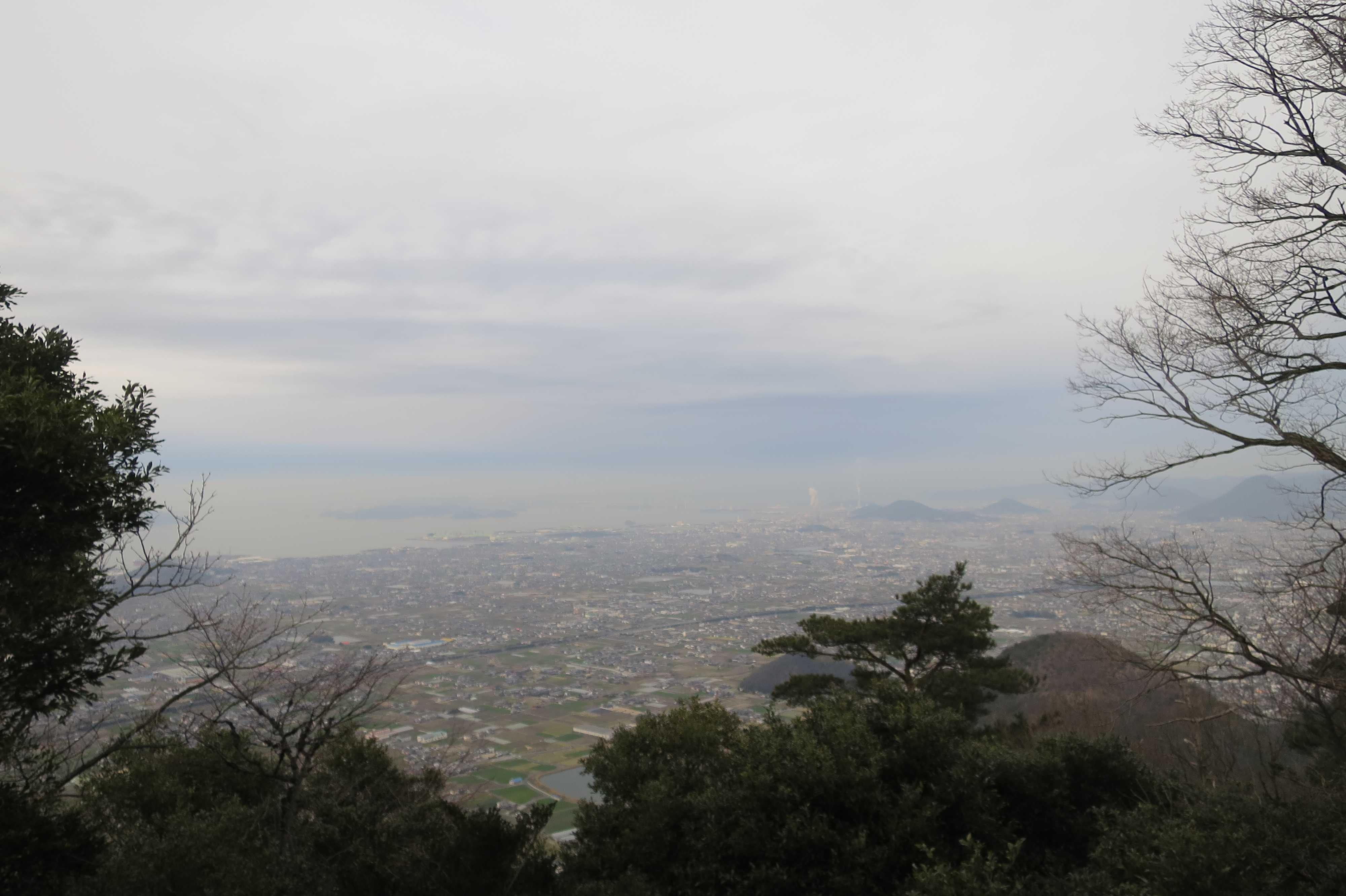我拝師山頂上からの眺め