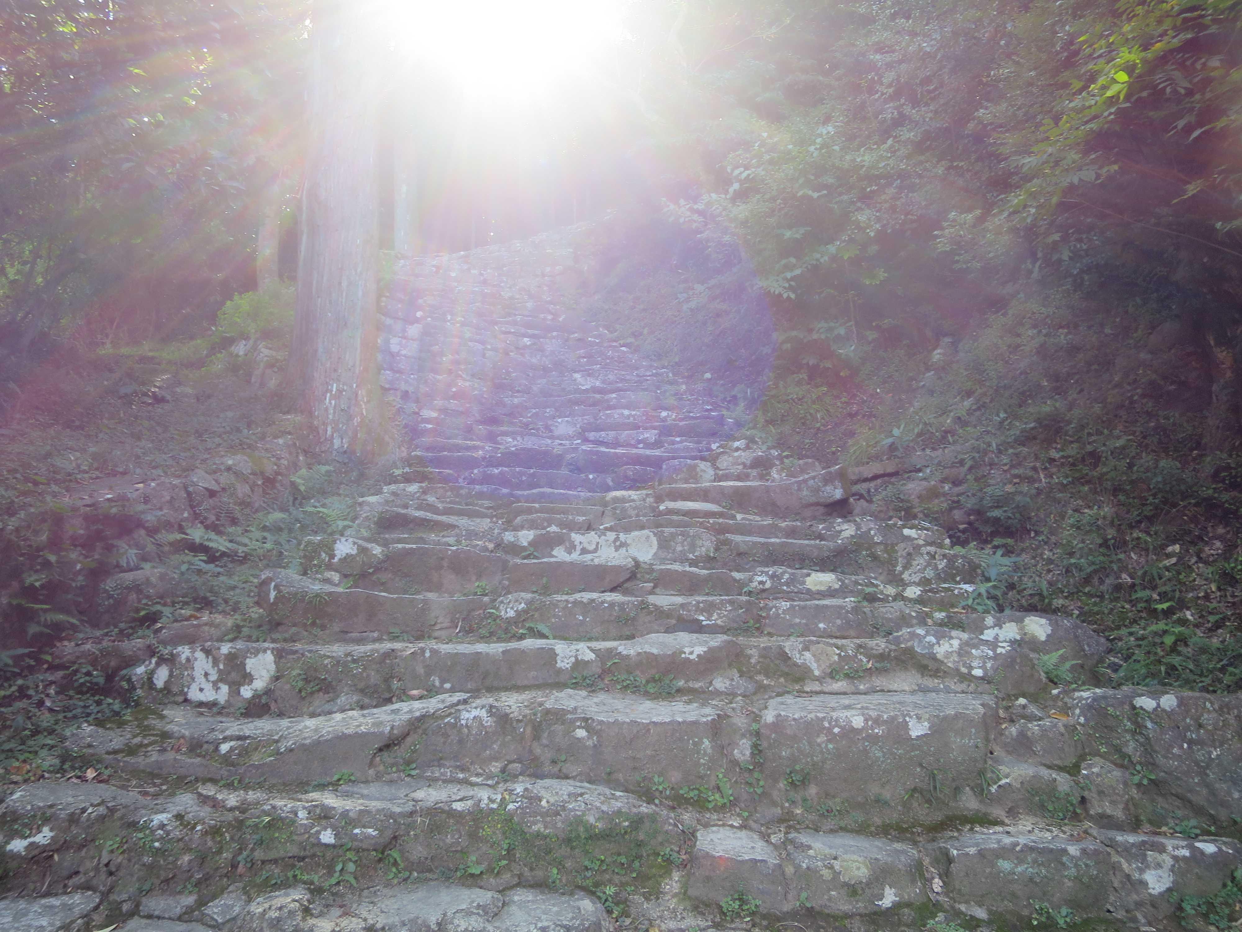神倉神社(神倉山)の鎌倉式石段