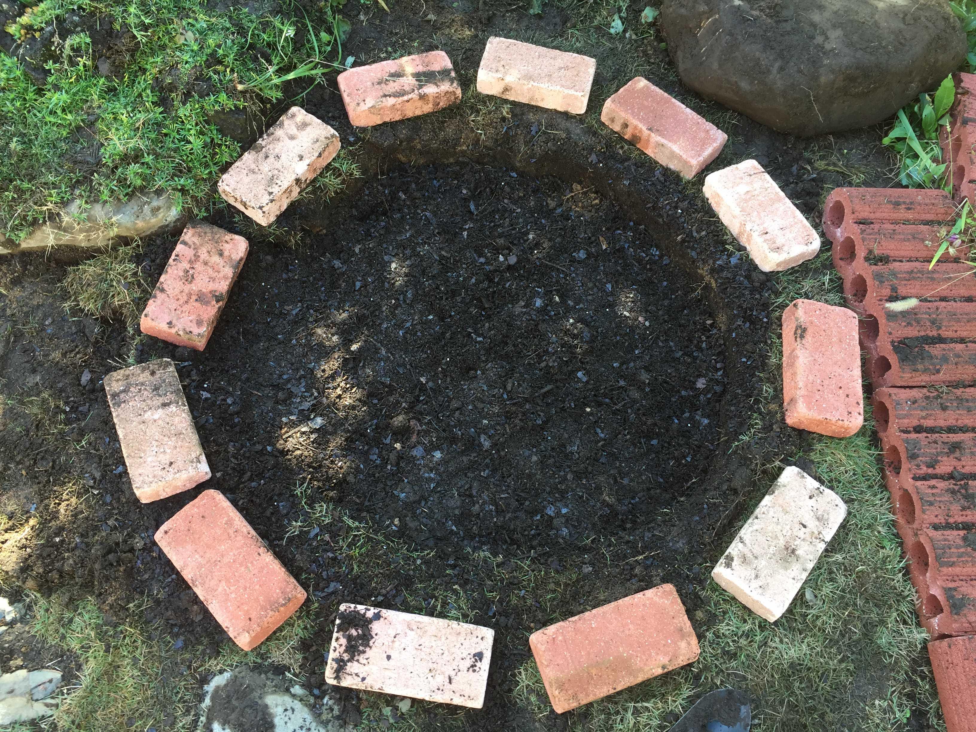 球根の植え穴を用土で埋める - 水仙の球根の植え方