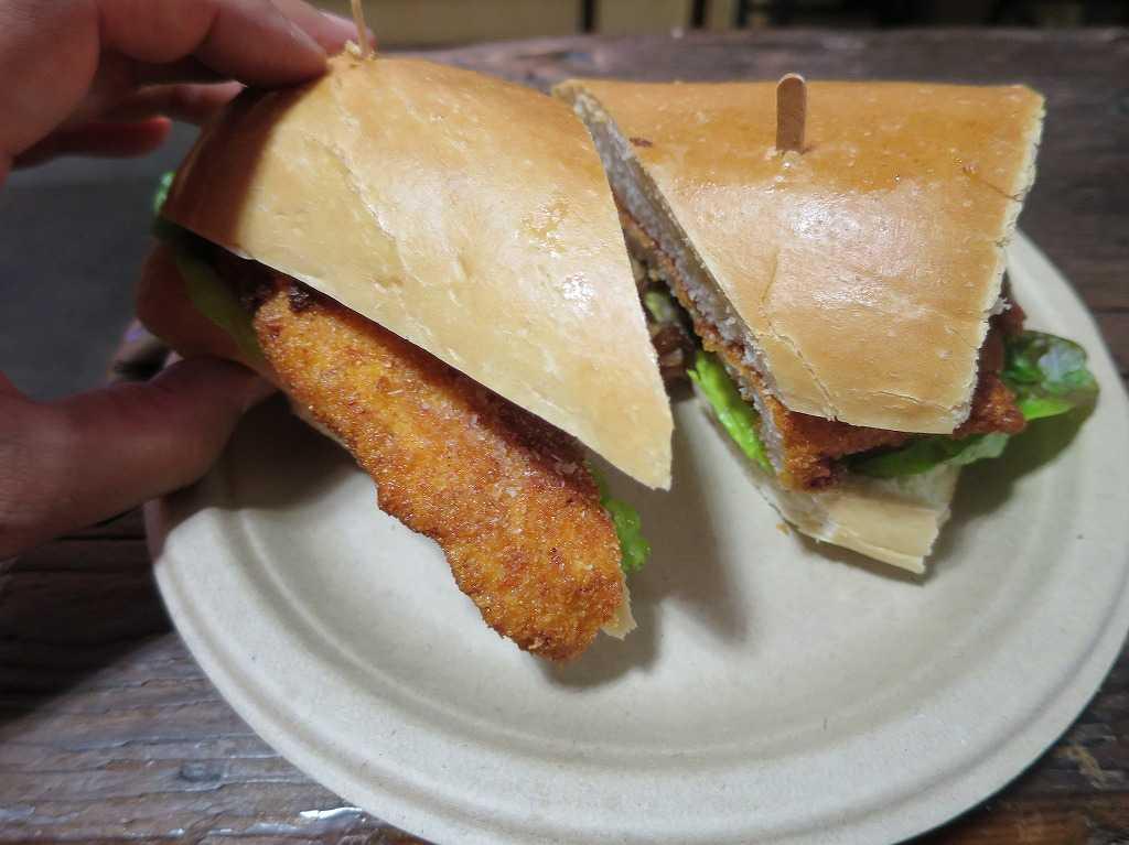 サンペドロスクエアマーケットのサンドイッチ