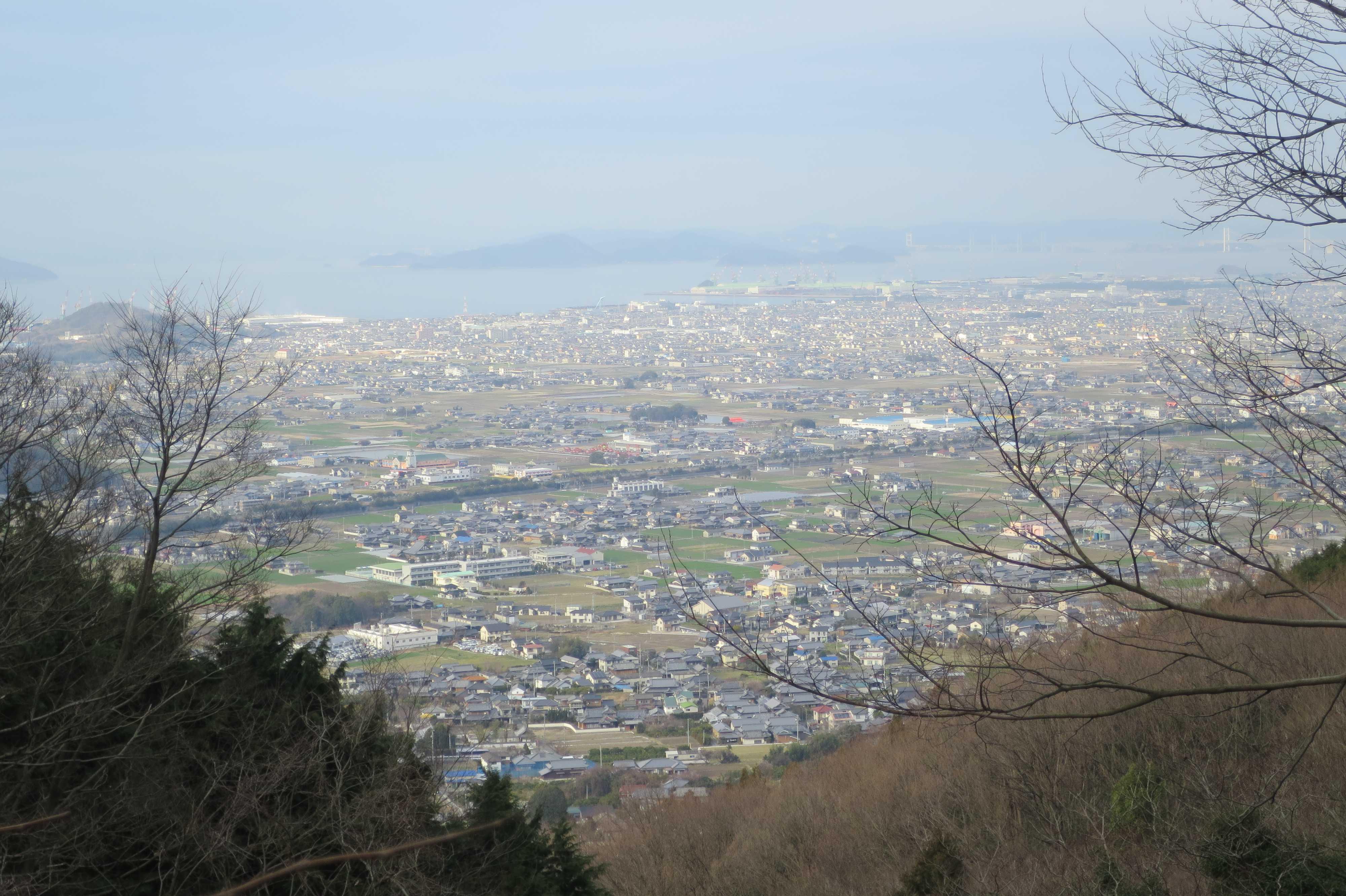 瀬戸内海と讃岐平野 - 奥の院捨身ヶ嶽禅定