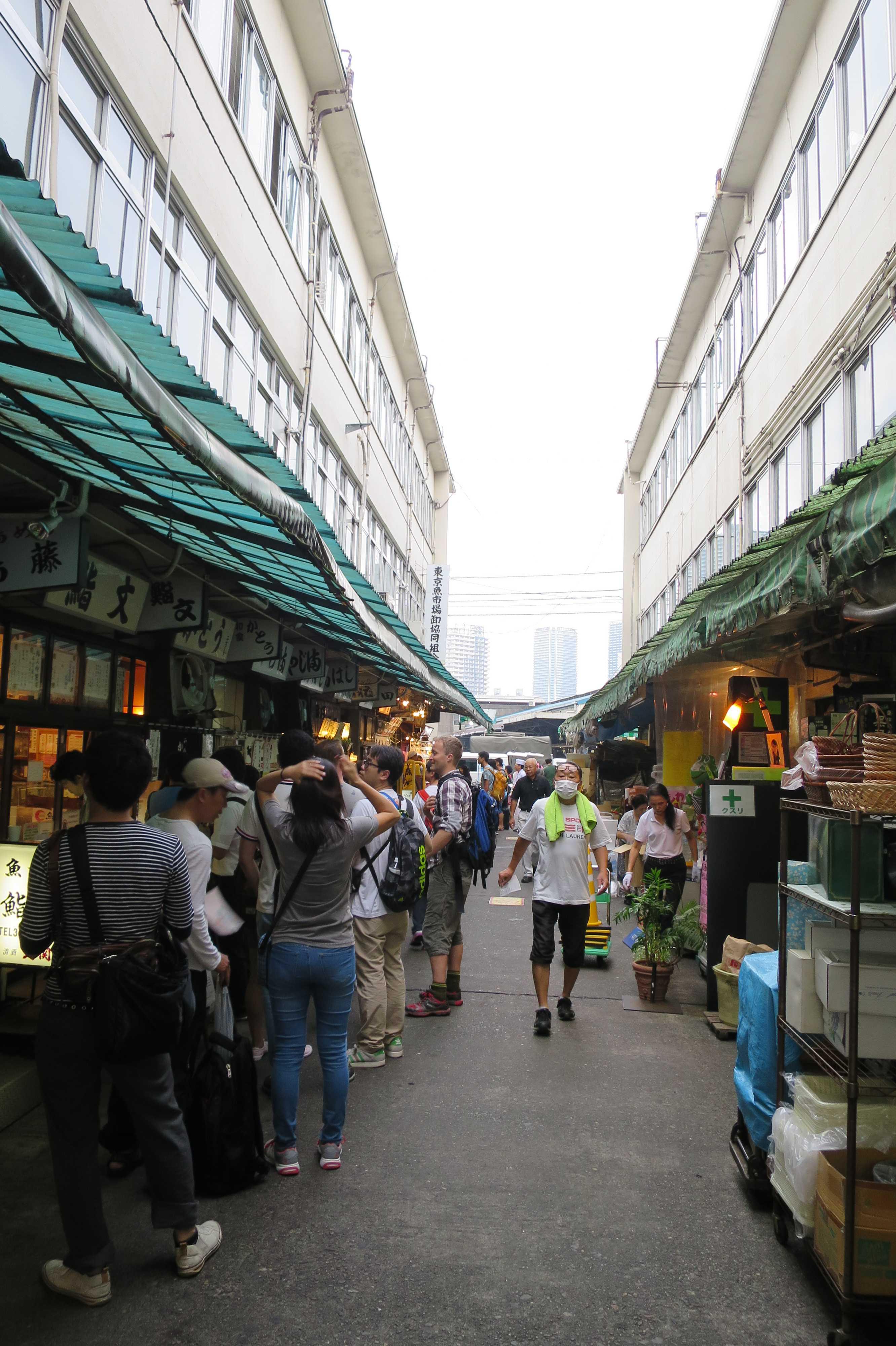 築地市場(場内) - 魚がし横丁の路地