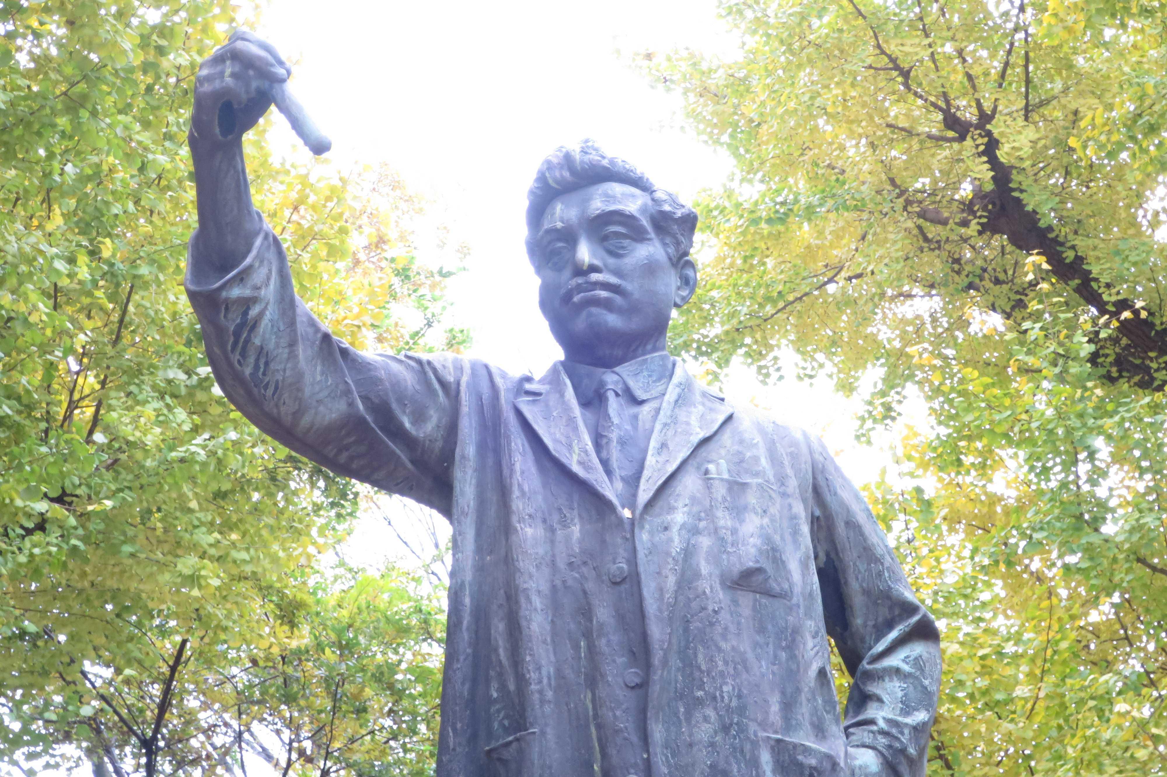 野口英世の銅像 - 上野公園