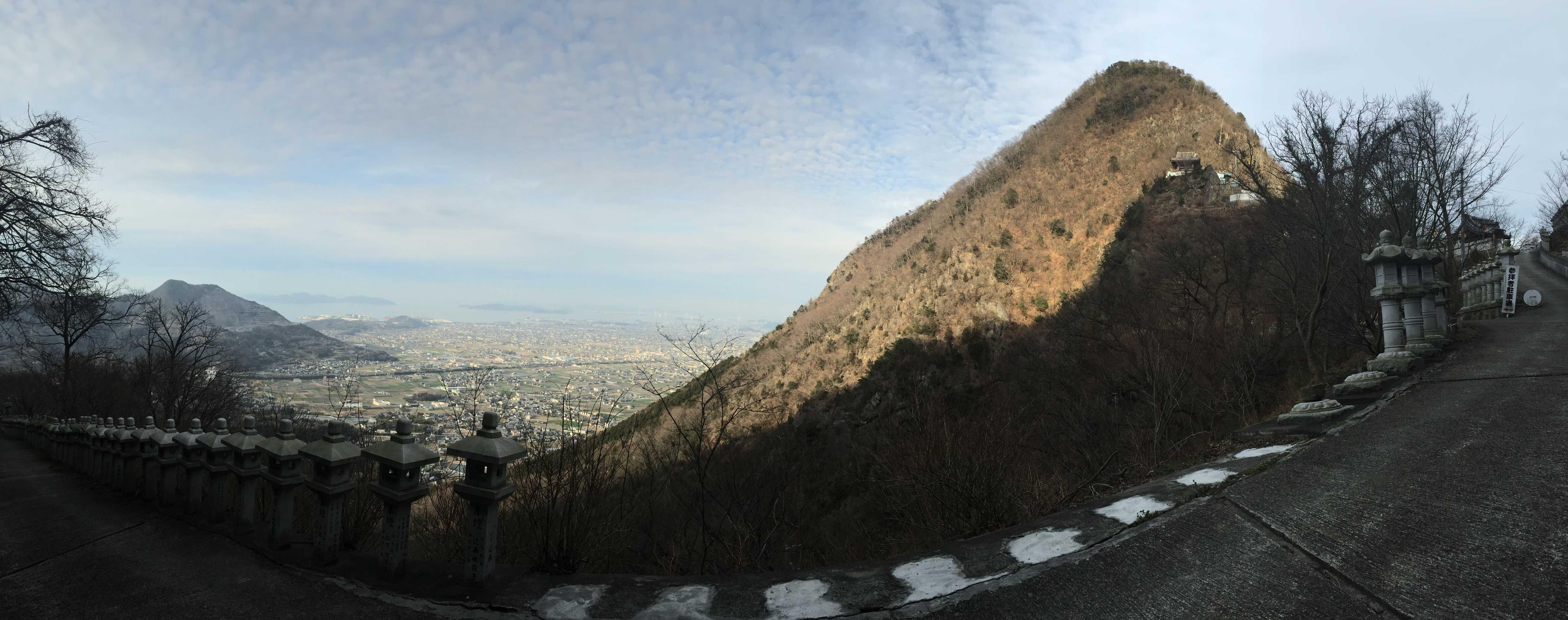 奥の院禅定から見たパノラマ風景