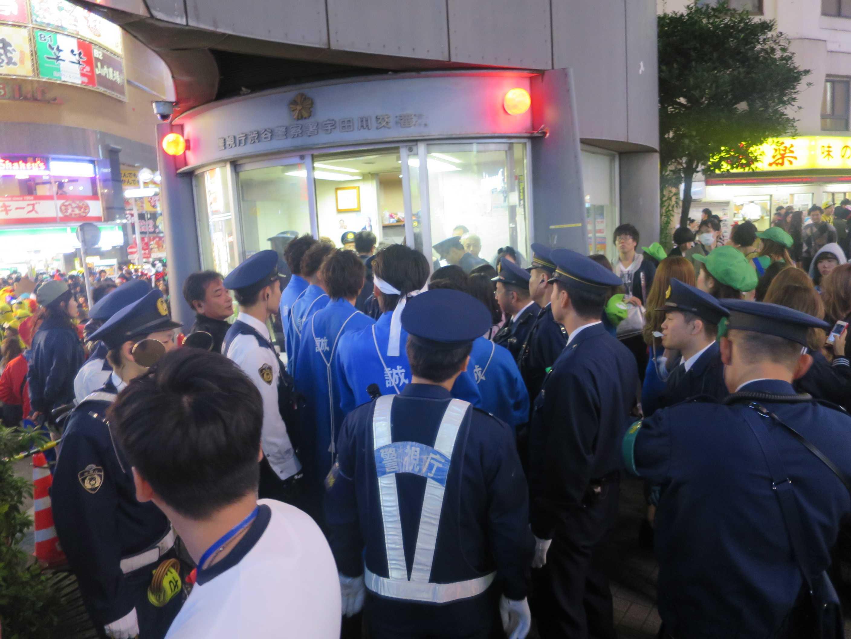 渋谷ハロウィン - 新撰組逮捕 銃刀法違反