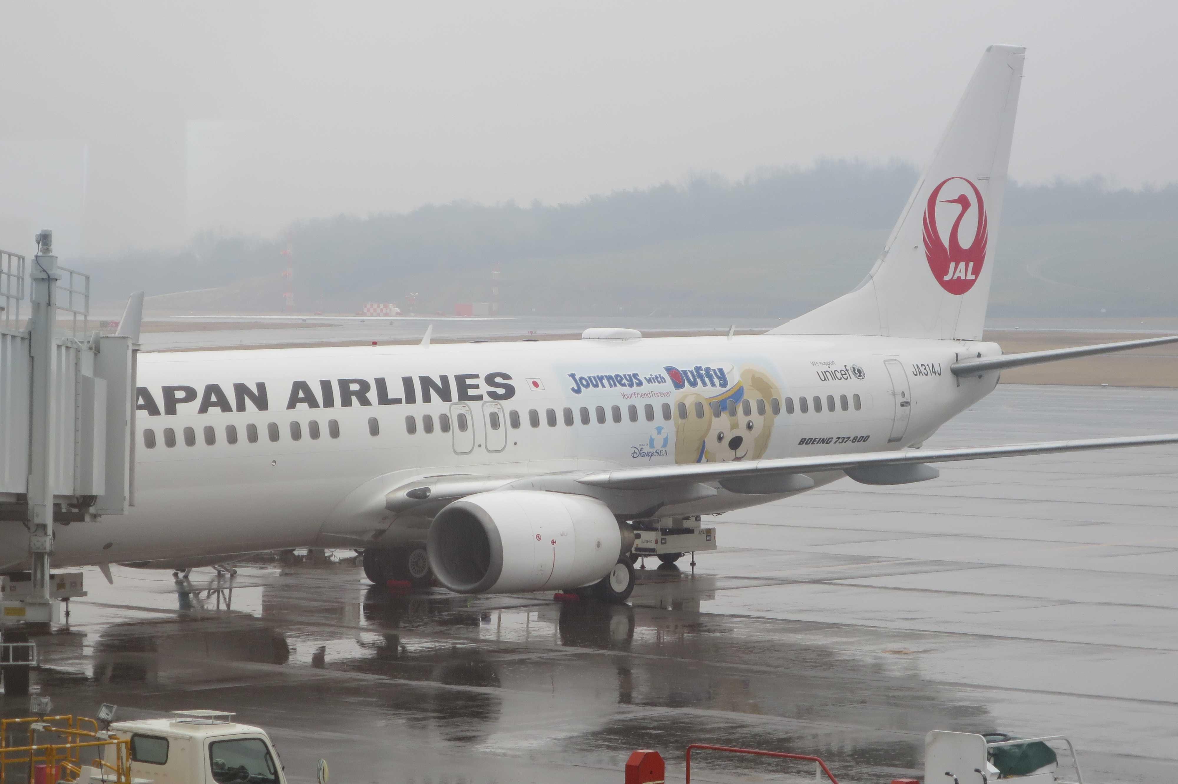 高松空港の Duffy(ダッフィー) - 特別塗装機「JALハッピージャーニーエクスプレス」
