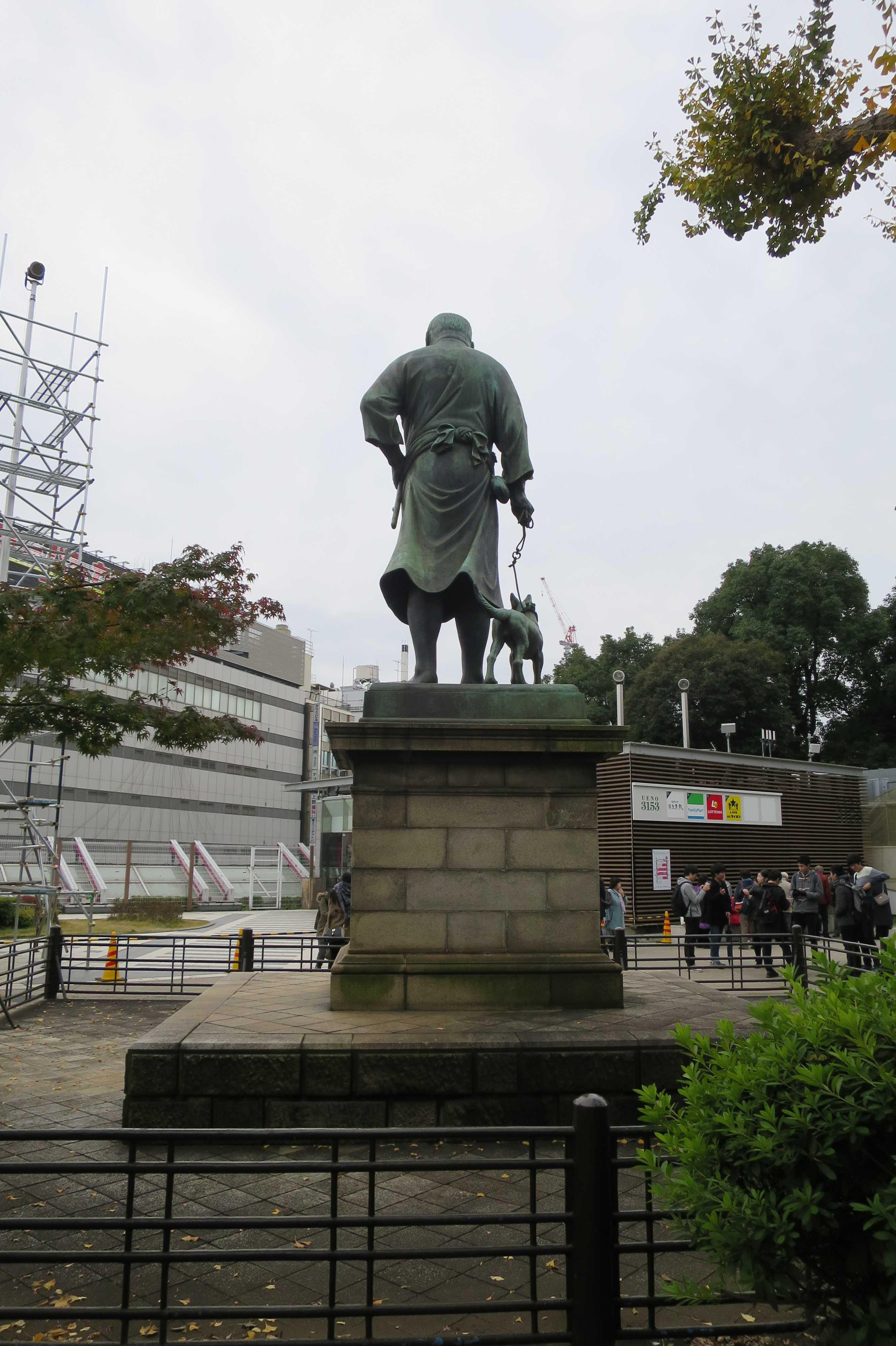 西郷隆盛像(後から) - 上野公園