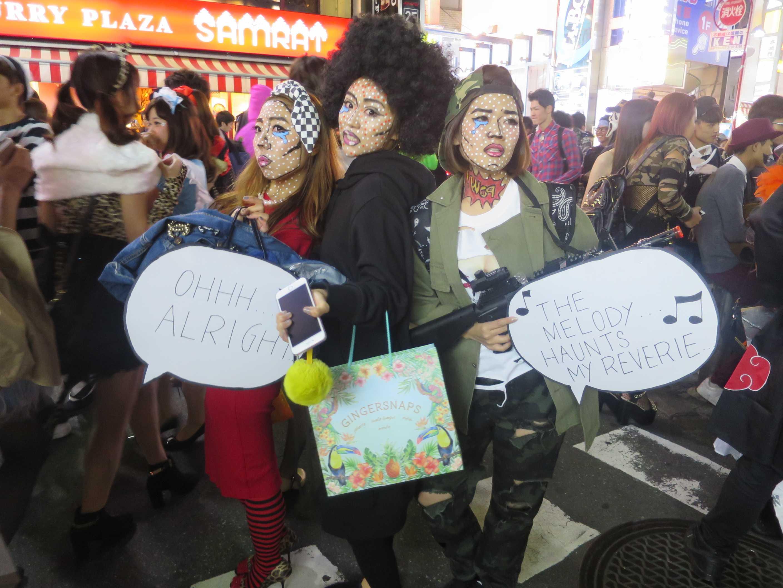 渋谷ハロウィン - 芸術的なメイク