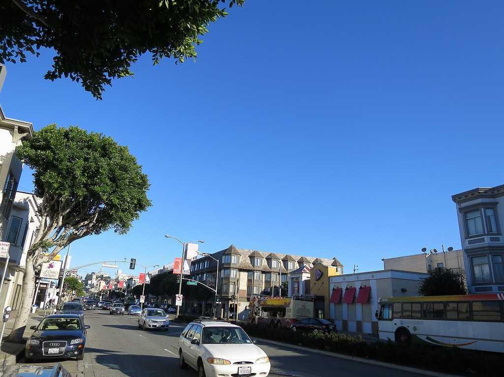 澄み渡ったサンフランシスコの空