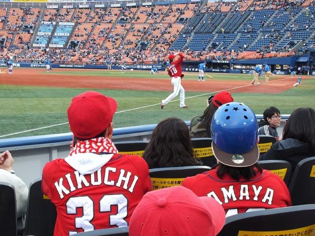 横浜スタジアムのエキサイティングシートから見たマエケン(前田健太)