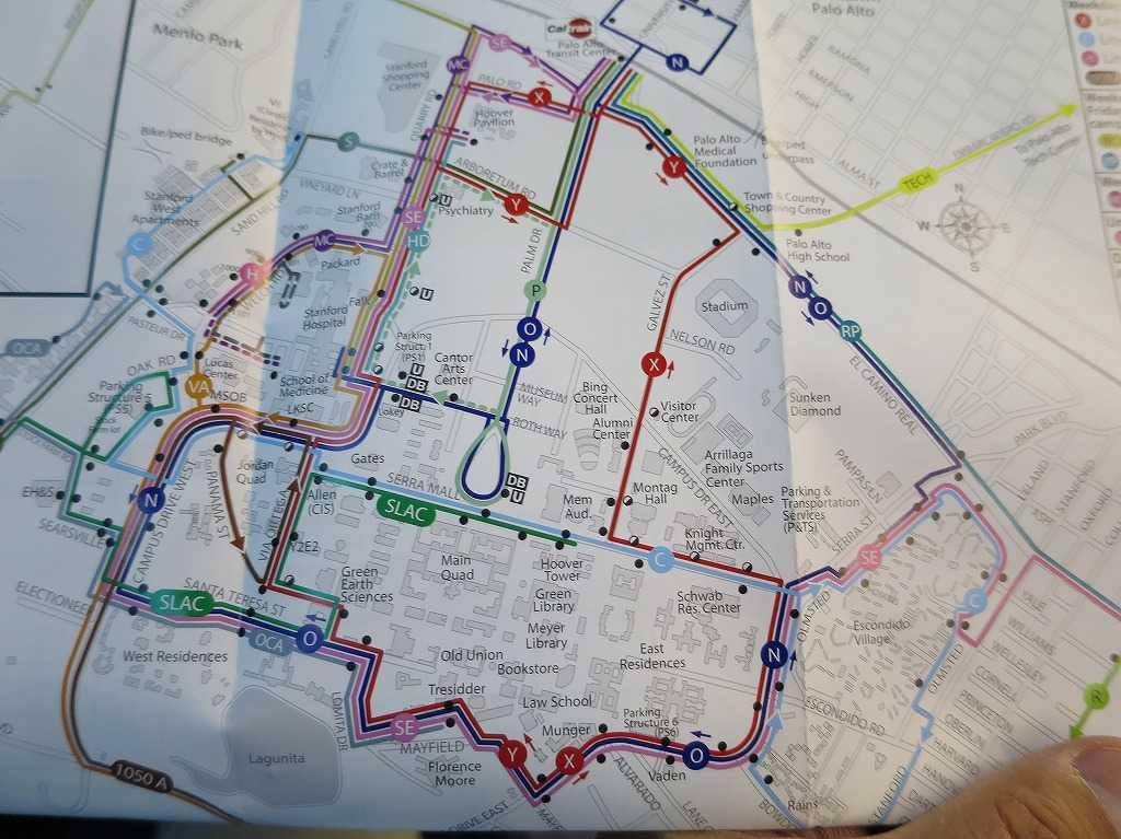 スタンフォード大学 - Marguerite(マルガリータ)の路線図